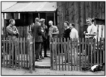 Australian and British POWs outside their quarters at Belemedik in 1918