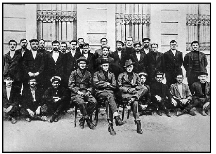 The 28 remaining crew members of HMAS AE2 probably taken in late 1918
